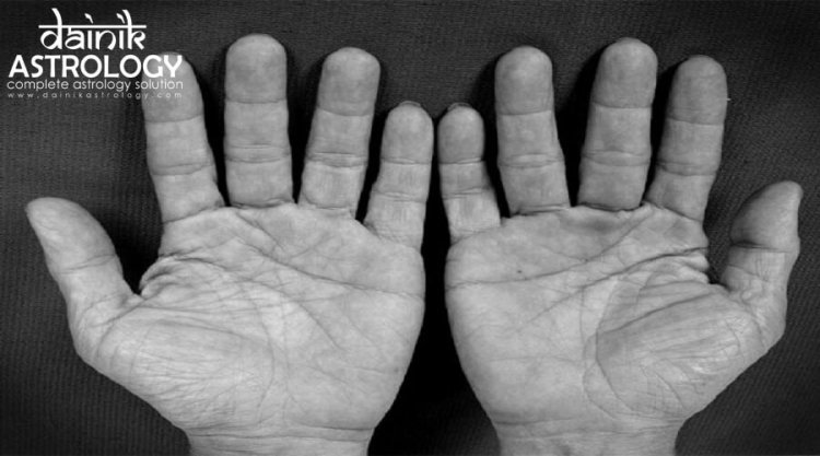 What is the secret of the triangle formed in the hand?