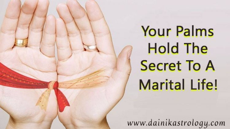 Palmistry tells whether married life will be happy or unhappy